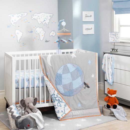 Lambs And Ivy Silver Cloud Baby Bedding Collection