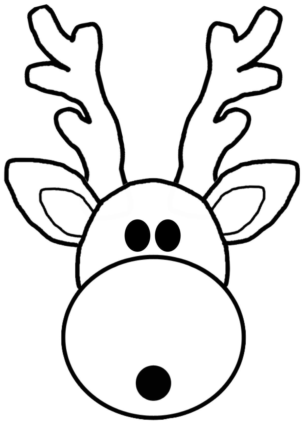 Reindeer Mask Template Coloring Pages Art Lessons