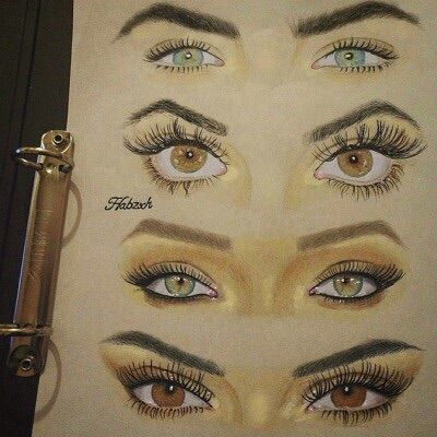 Image via we heart it amazing art blueeyes book for Drawing eyebrows on paper
