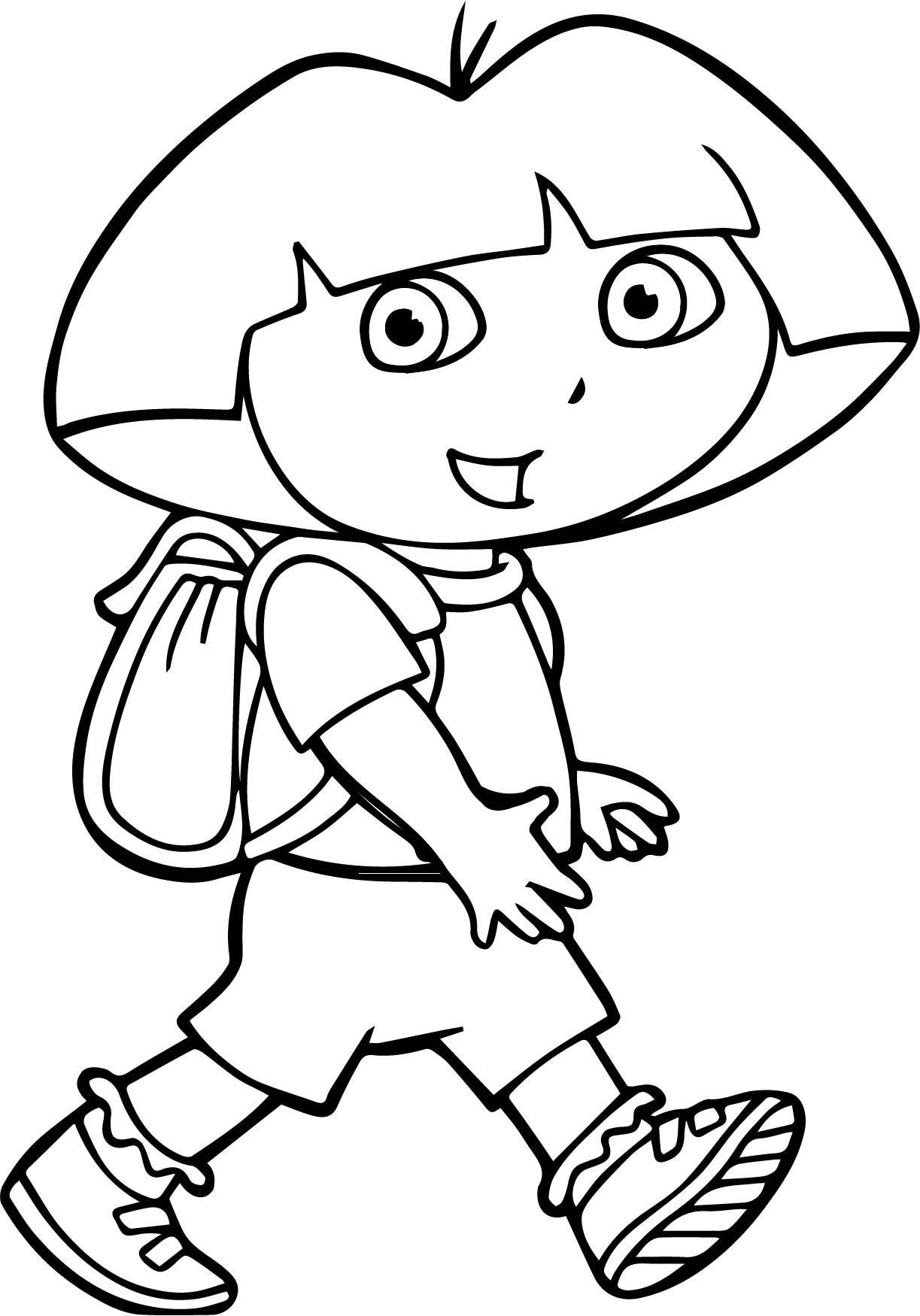 Walking Dora Coloring Page Dora Para Colorir Desenho Dora Paginas Para Colorir