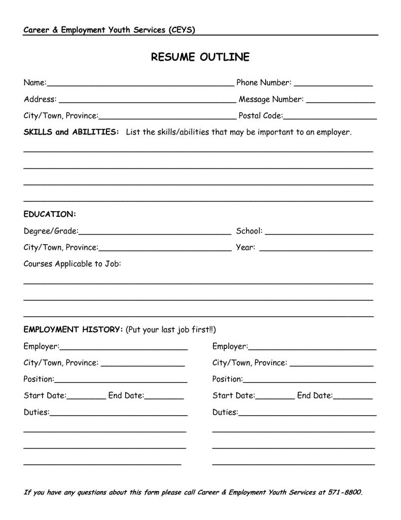 Resume Outlines Mesmerizing Resumeoutline48 Resume Cv Design Pinterest Resume Outline