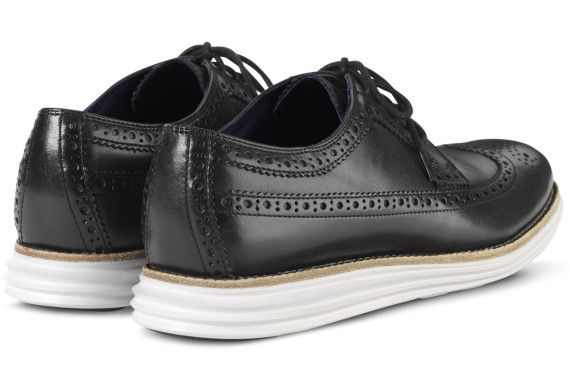 Cole Haan LunarGrand Long Wingtip – Black/White