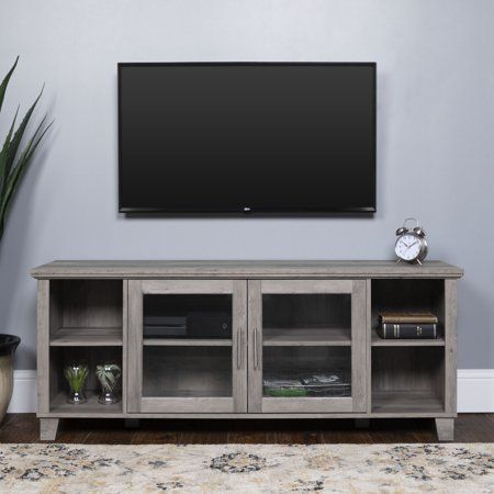 low priced 7b99c 2c87e 58 inch Traditional Rustic TV Stand Console with Middle ...