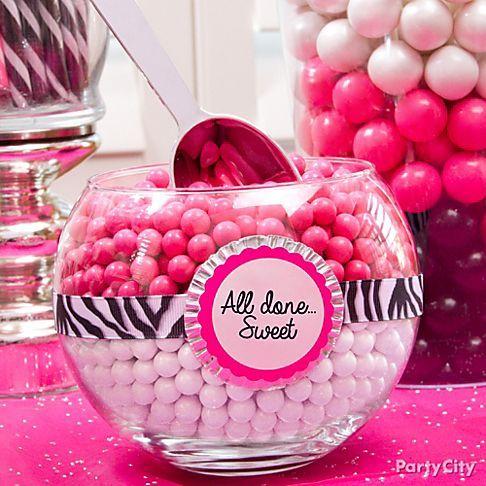 Purple Zebra Baby Shower Ideas For Girls Pink Zebra Graduation