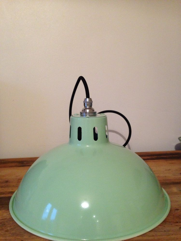 Beautiful ceiling pendant light fitting retro industrial vintage various colours