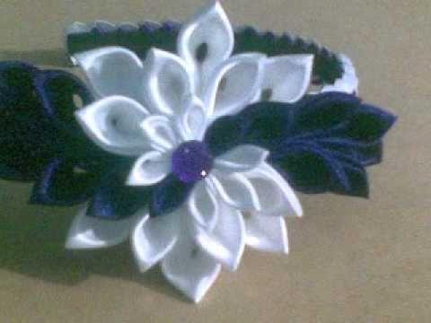 cintillos o diademas para nias tsunami kanzashiwmv flores de telaideas