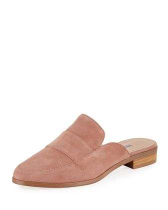 0b343c707fa Grace+Suede+Slide+Flat+Mule+by+Charles+David+at+Neiman+Marcus+Last+Call.
