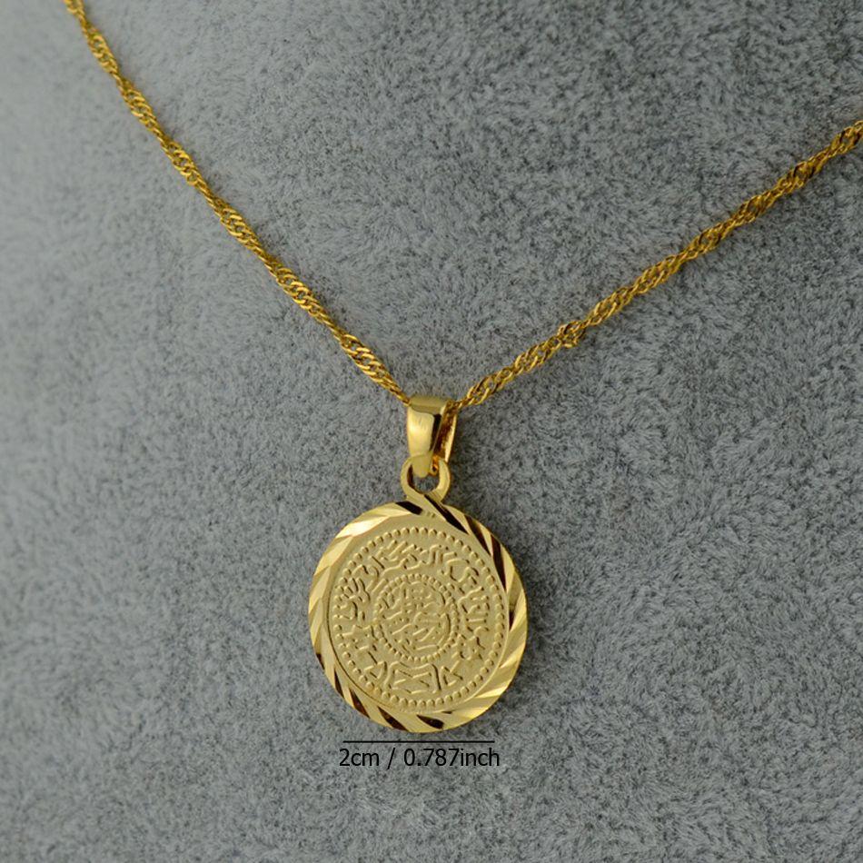 Anniyo islam musulm n monedas antiguas collares chapado en for Que es una beta de oro