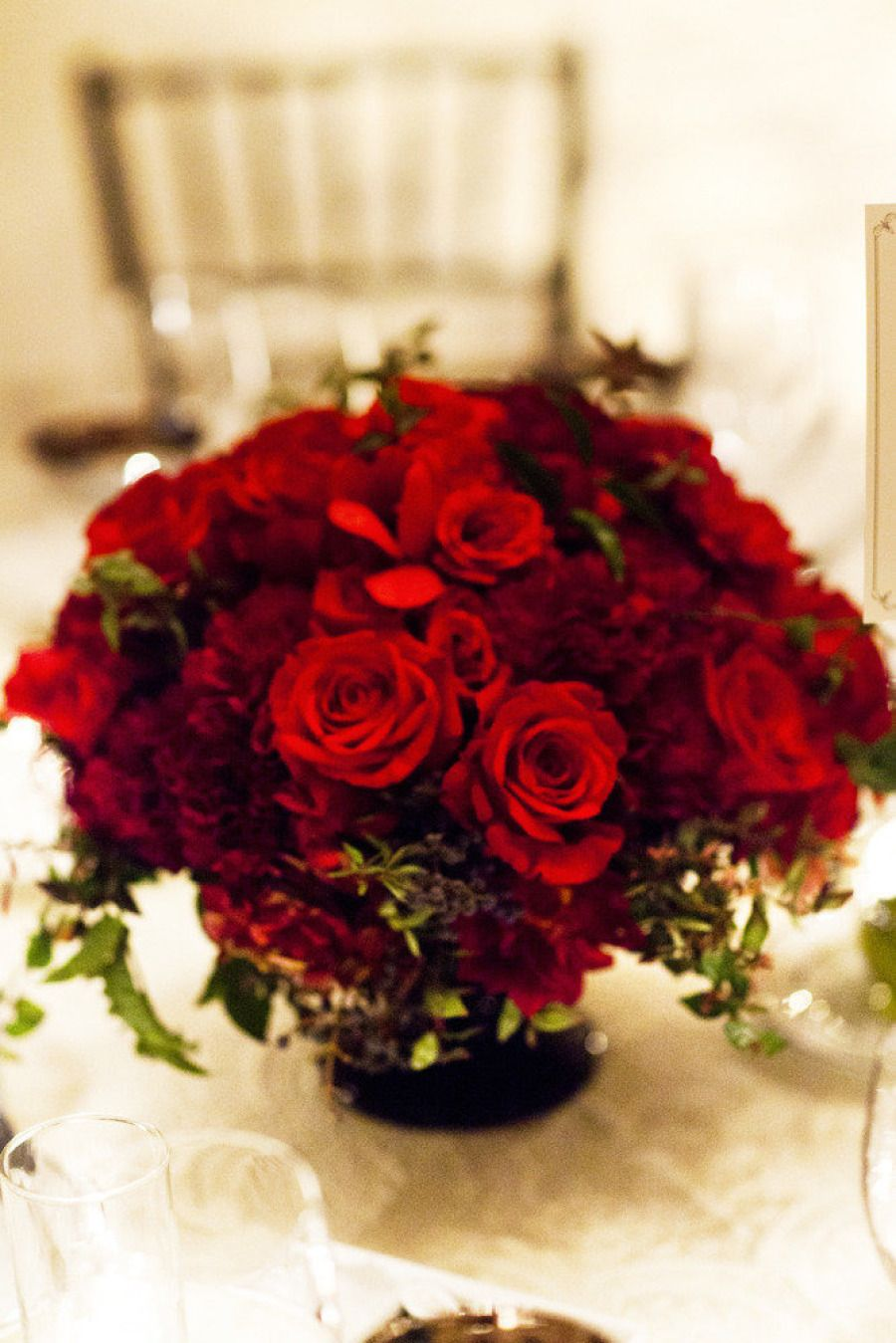 San Francisco Wedding From Andrew Weeks Photography Red Wedding Flowers Red Roses Centerpieces Red Wedding Centerpieces