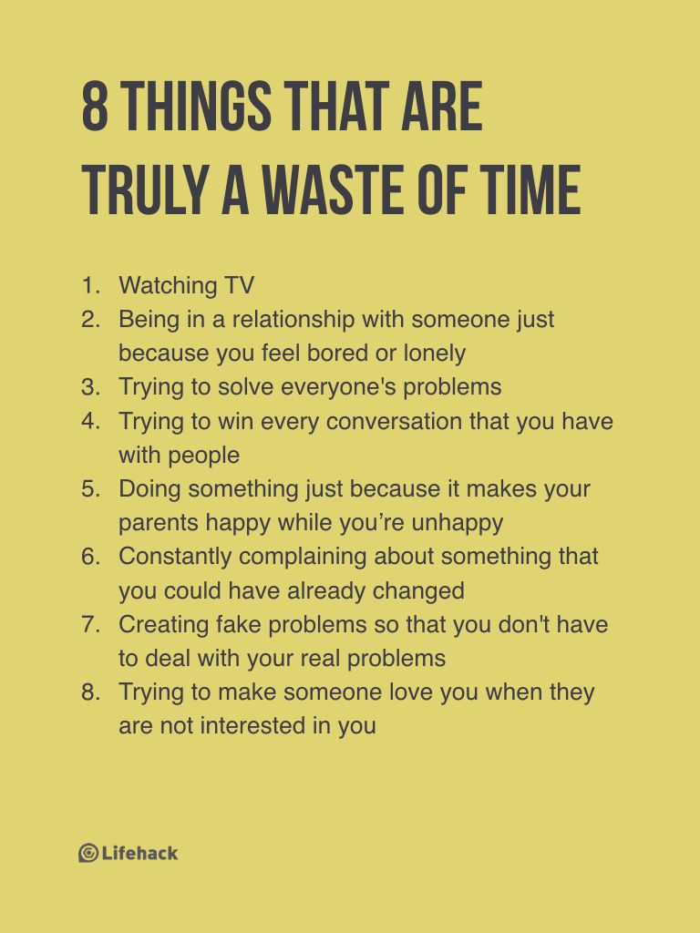 things that are truly a waste of time lifehack life quotes