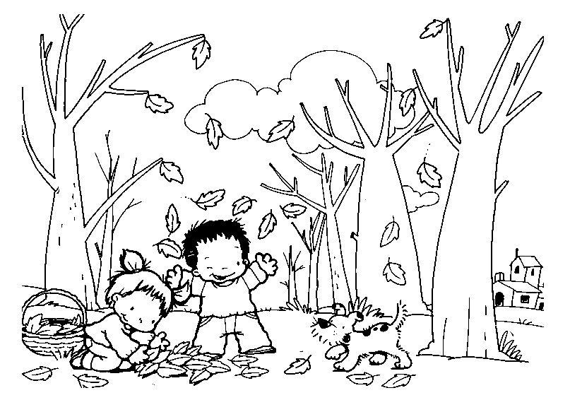 Recursos Educativos Dibujos Para Colorear De Otoño Dibujos Y Fichas
