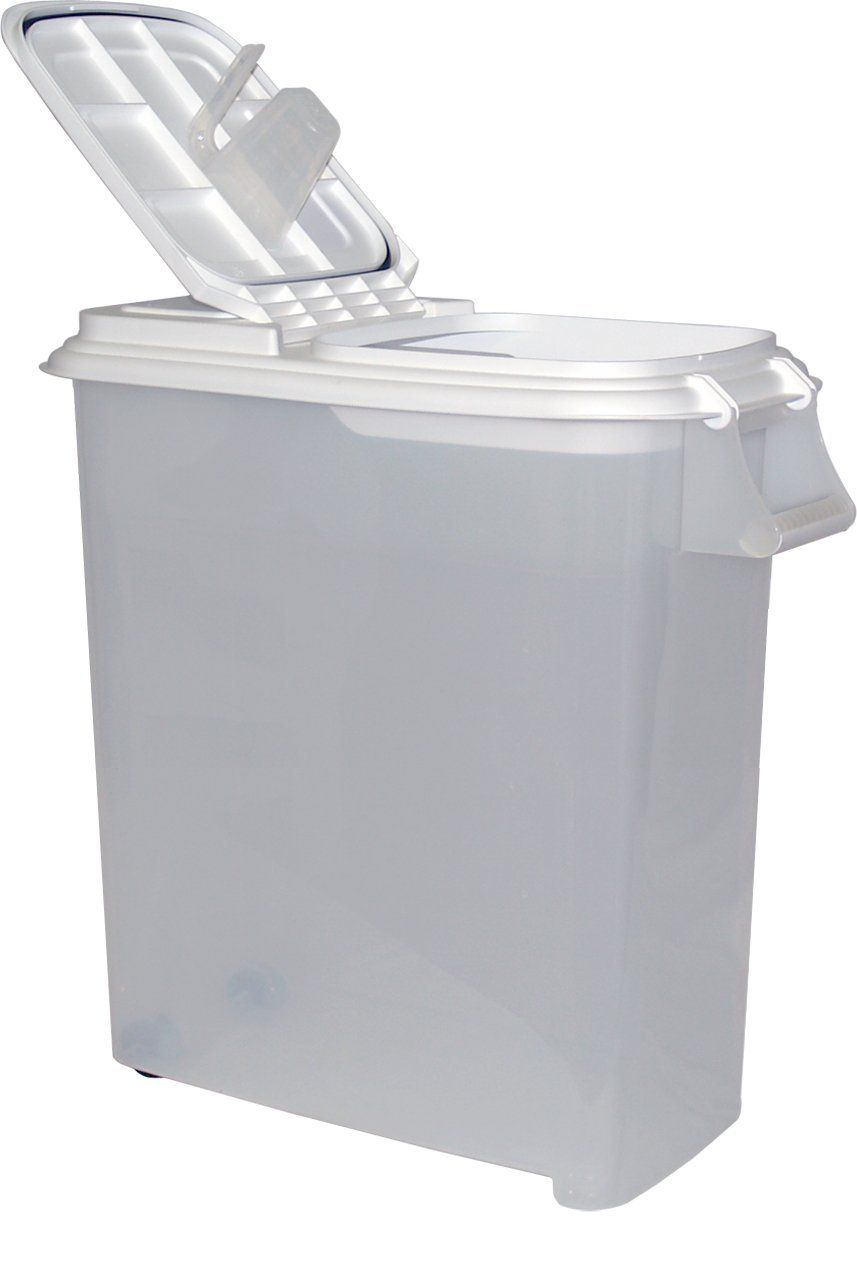 Buddeez 12-1/2-Gallon Roll-Away Pet Food Dispenser with Scoop ** For more information, visit image link.