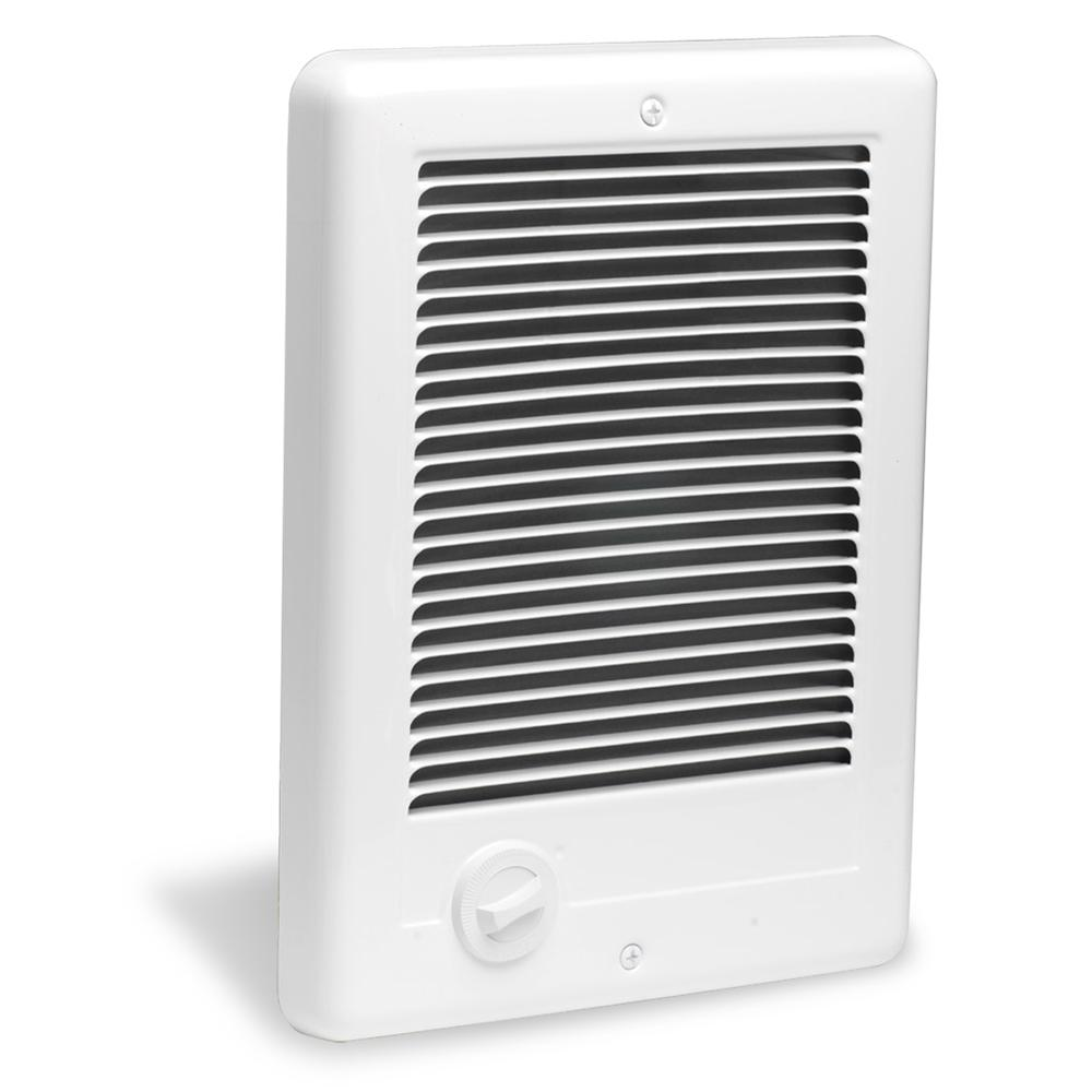 Cadet Com Pak 1 000 Watt 120 Volt Fan Forced In Wall Electric Heater In White Csc101tw Electric Heater Heater Bathroom Heater