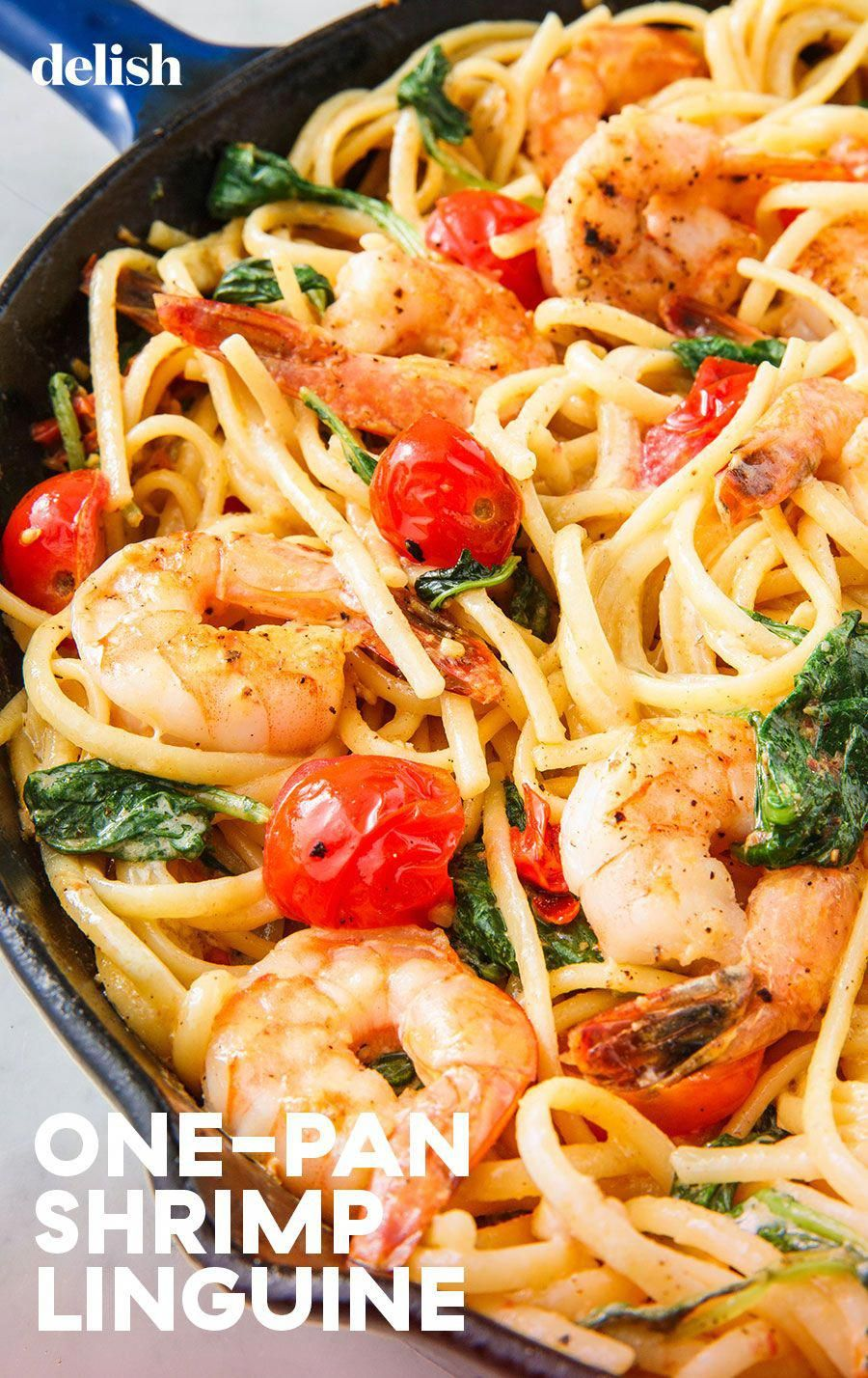This shrimp linguine is SERIOUSLY addictive. Get the recipe from .