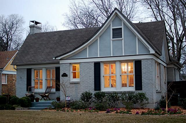 stucco and brick tudor cottage look at the roof line near the rh ar pinterest com