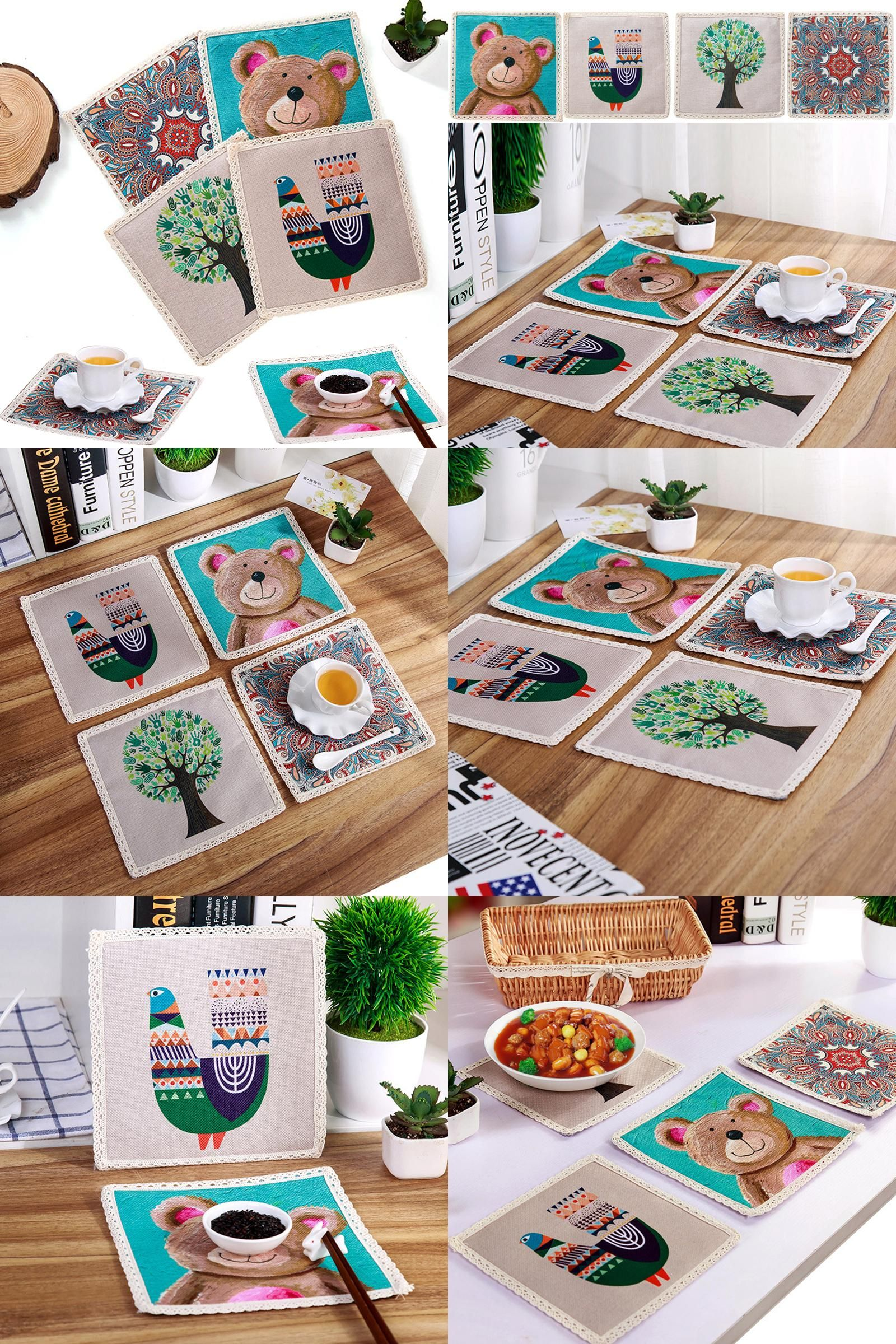 Visit to Buy Cartoon Simple Placemat Mat
