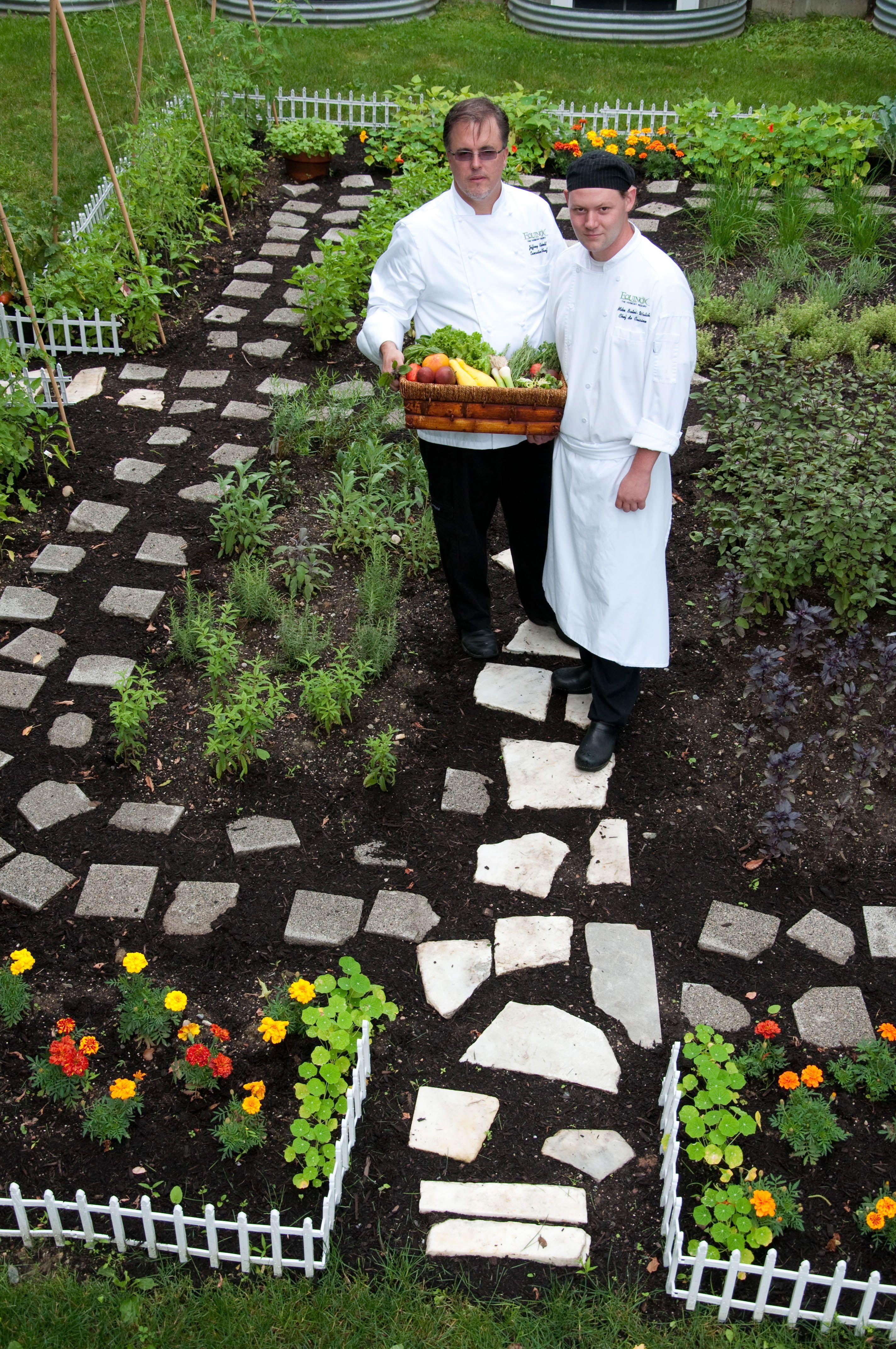 Chef in his herb garden. The Complete Kitchen Garden by Ellen ...