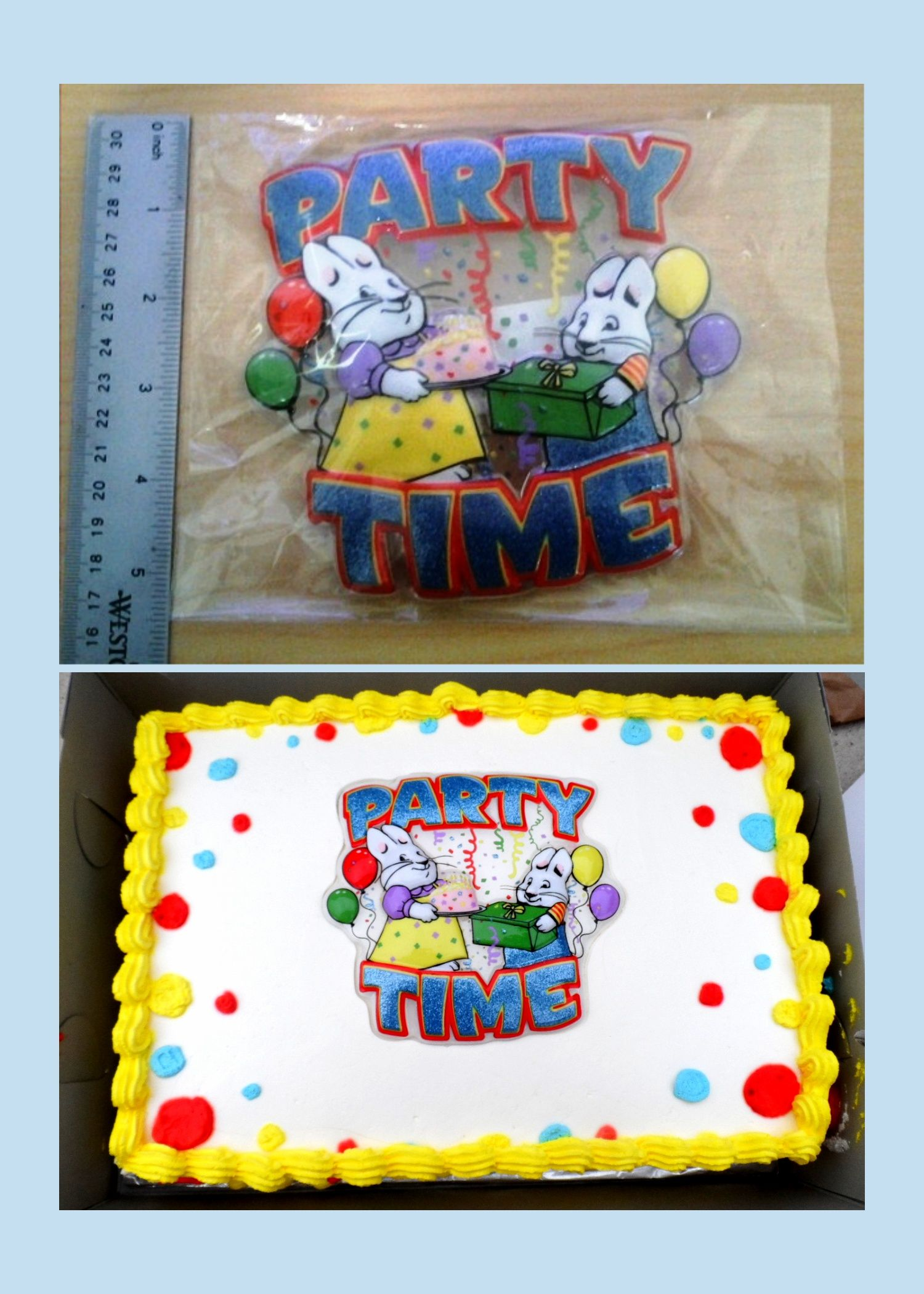 Max And Ruby Cake Topper Cake Recipe