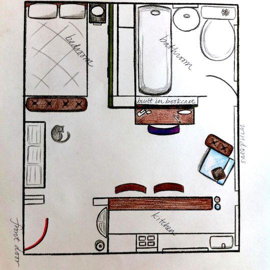 350 Sq Ft Studio Apartment: A Truly Tiny Apartment. Studio, 350 Square Feet!