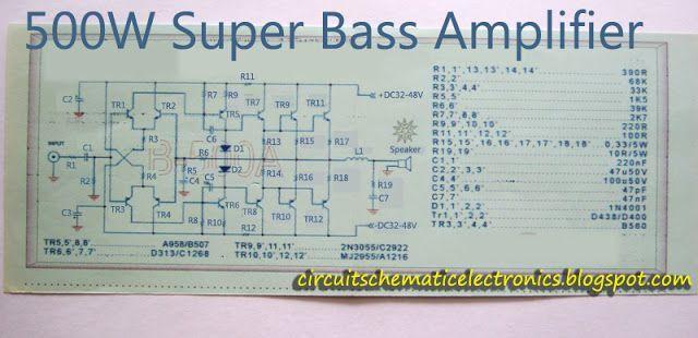 Super Bass Power Amplifier 2SC2922-2SA1216 in 2019 | gf | Powered