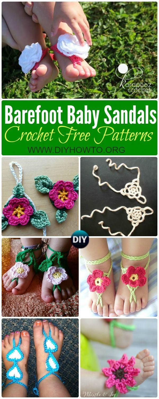 Crochet barefoot baby sandals free patterns baby beach baby crochet barefoot baby sandals free patterns bankloansurffo Gallery