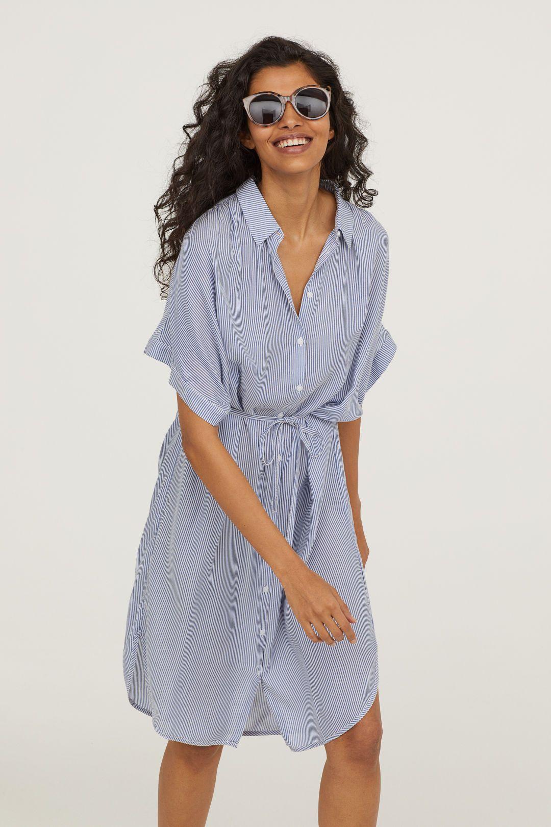 3c466224f Modal Shirt Dress in 2019   wardrobe   Shirt dress, Dresses, Blue ...