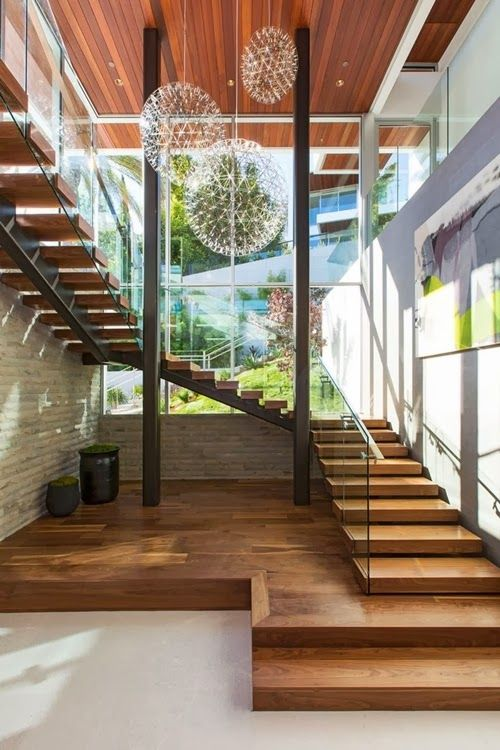 30 exemples d\'escaliers en bois pour maisons modernes | Escaliers ...