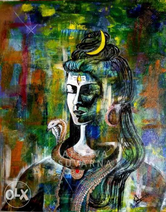 Pin By Whispering Stones On Shiva Lord Shiva Painting Shiva