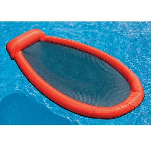 Mesh Lounge Swimming Pool Float Red By Intex 24 99 Stay Comfy Cool In The Mesh Lounge The Mesh Bottom Keeps You Cool Pool Lounge Pool Lounge Chairs Pool