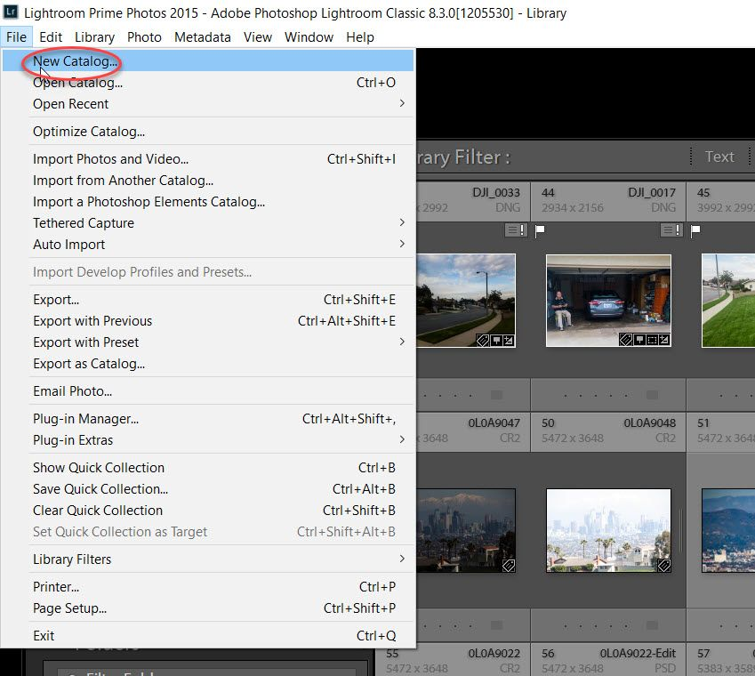 Creating a New Catalog in Lightroom Classic CC | Lightroom, Lightroom  catalog, New catalogue
