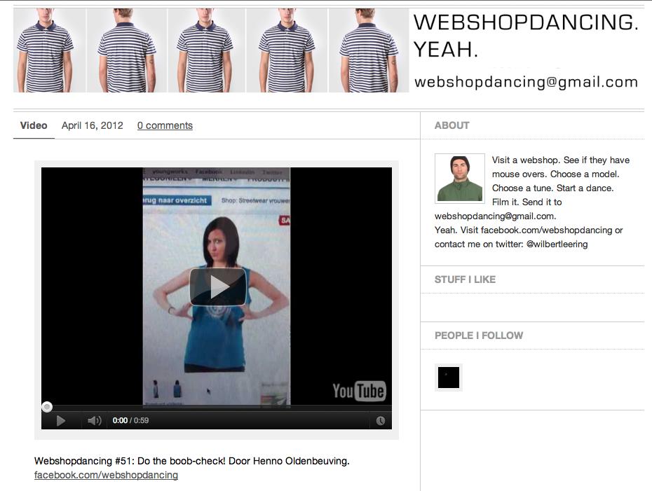 Webshopdancing! Yeah! http://webshopdancing.tumblr.com