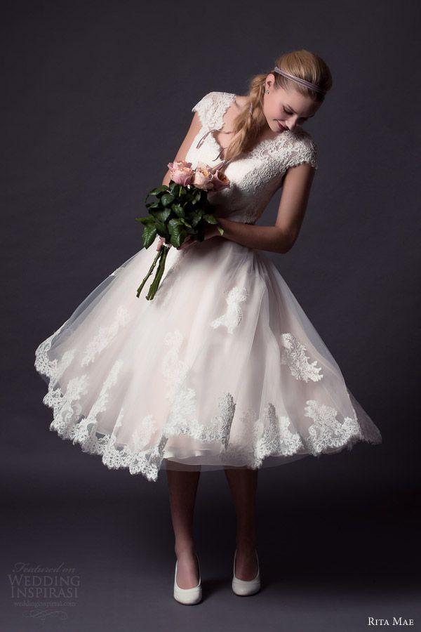 Rita Mae 2015 Wedding Dresses Wedding Inspirasi Wedding Dresses Lace Tea Length Wedding Dress Short Wedding Dress