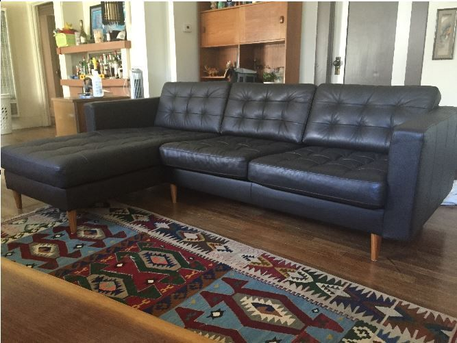 Ikea sofa looks so much better with 3rd part legs ...