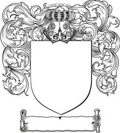 Free Coat of Arms Template (also available as a PDF