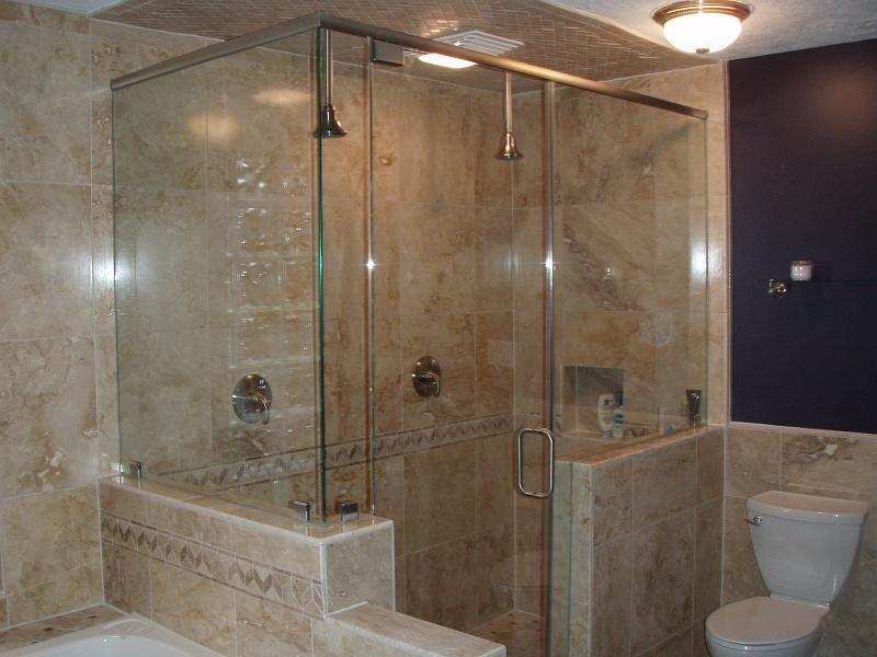 bathroom corner showers | bathroom design corner shower stall units ...