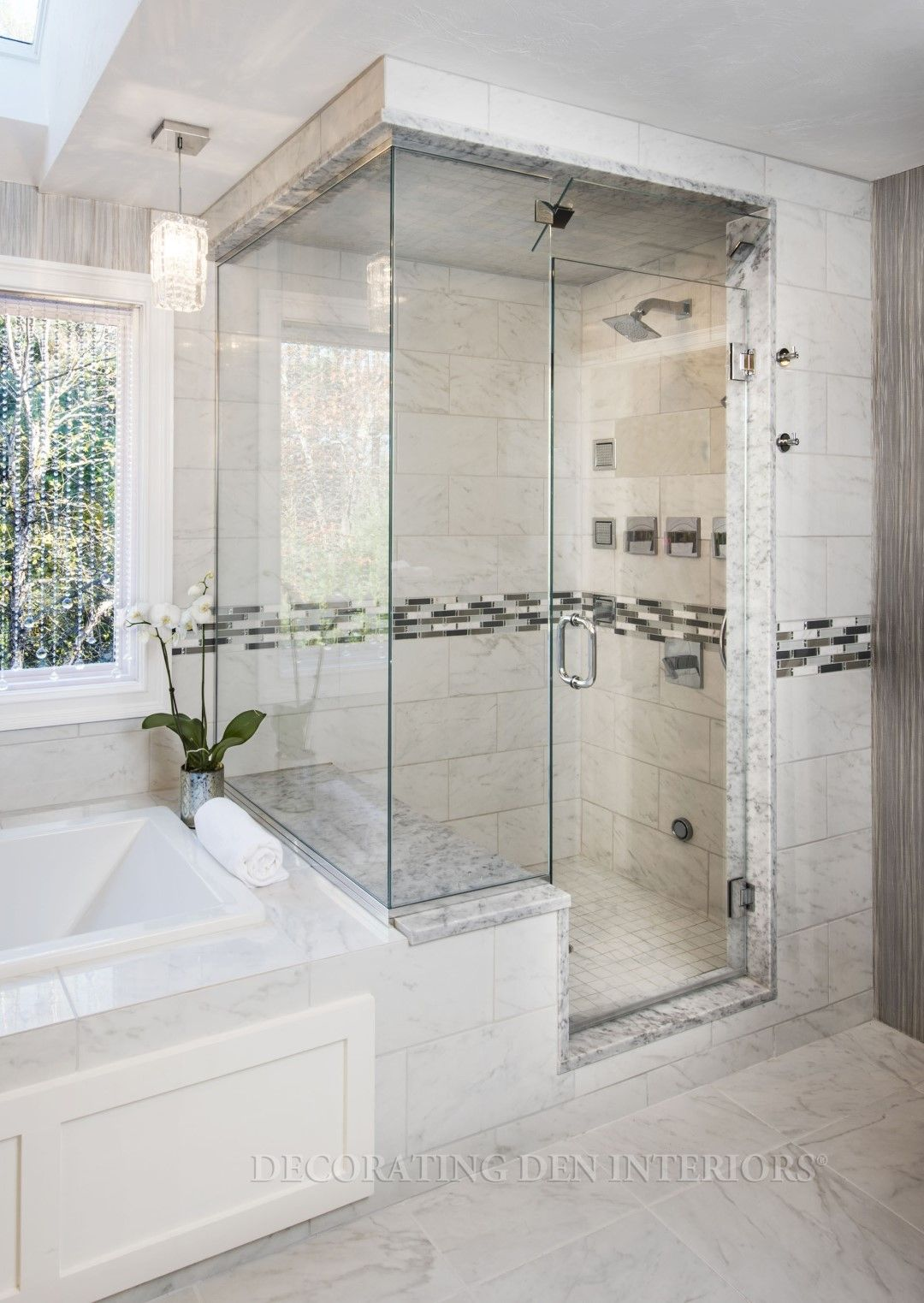Beautiful Bathroom Designs By Decorating Den Interiors. Want This Look?  Call Decorating Den Interiors By Julie Ann To Set Up Your FREE Consultation  ...