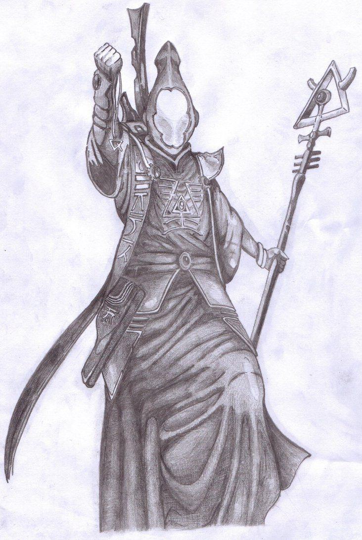Eldar Spiritseer, can be purchased as a print on DeviantArt :)