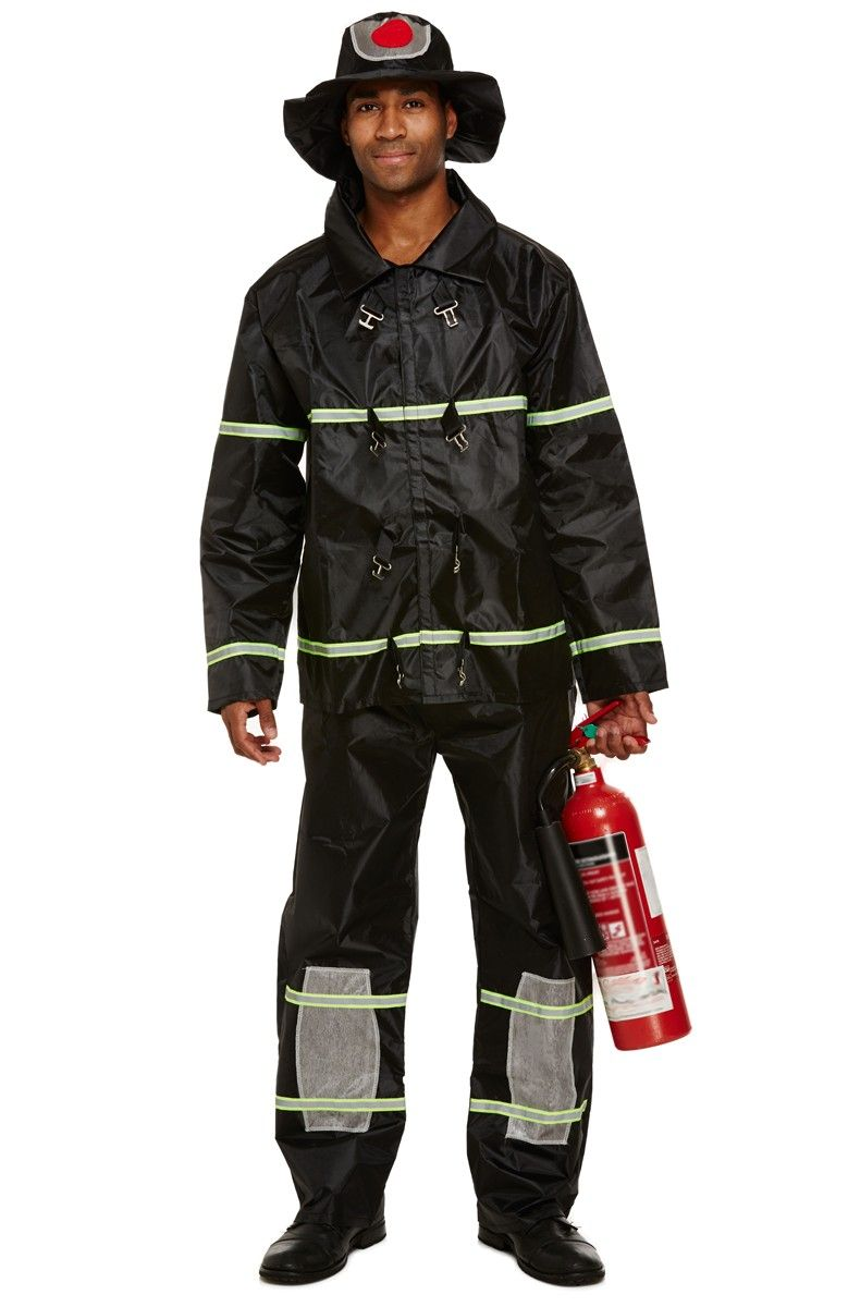 Adult Fireman Uniform Fancy Dress Costume Tfpfancy Dress