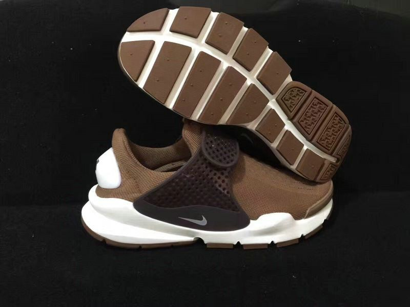 newest 320c0 43d54 June Latest New Arrival Unisex New Arrival June Latest 2017 Summer Nike  Sock Dart Coffee Brown White 819686 003 Cheap For Sale