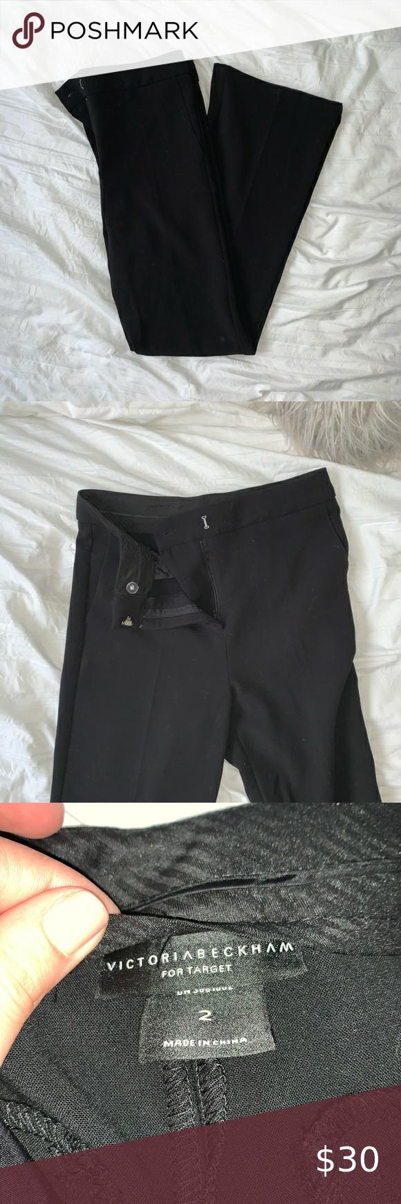 Victoria Beckham Black Flare Dress Pants Slacks In 2020 Flare Dress Pants Black Flare Dress Flare Dress [ 1740 x 580 Pixel ]