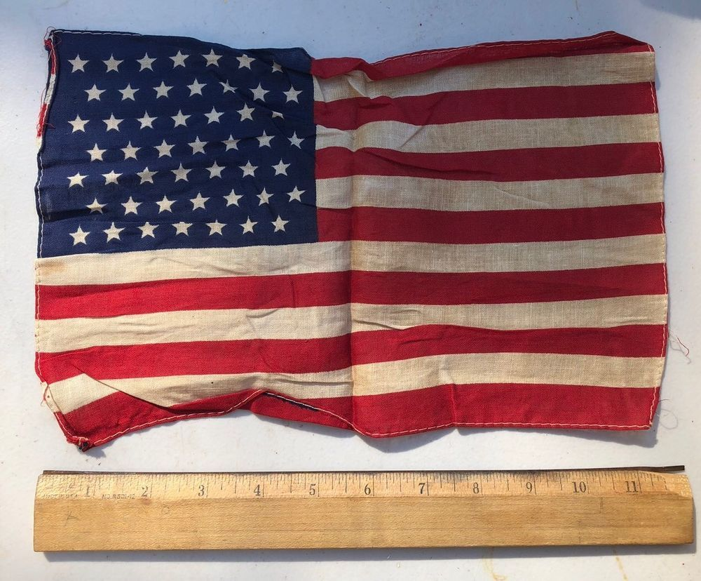 Vintage Miniature 49 Star UNITED STATES of AMERICA Flag
