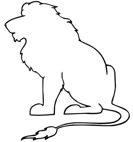 Sitting Lion Outline Coloring Page Free Printable Coloring Pages Lion Coloring Pages Animal Stencil Animal Outline Animal outline drawings lion outline coloring online something. sitting lion outline coloring page