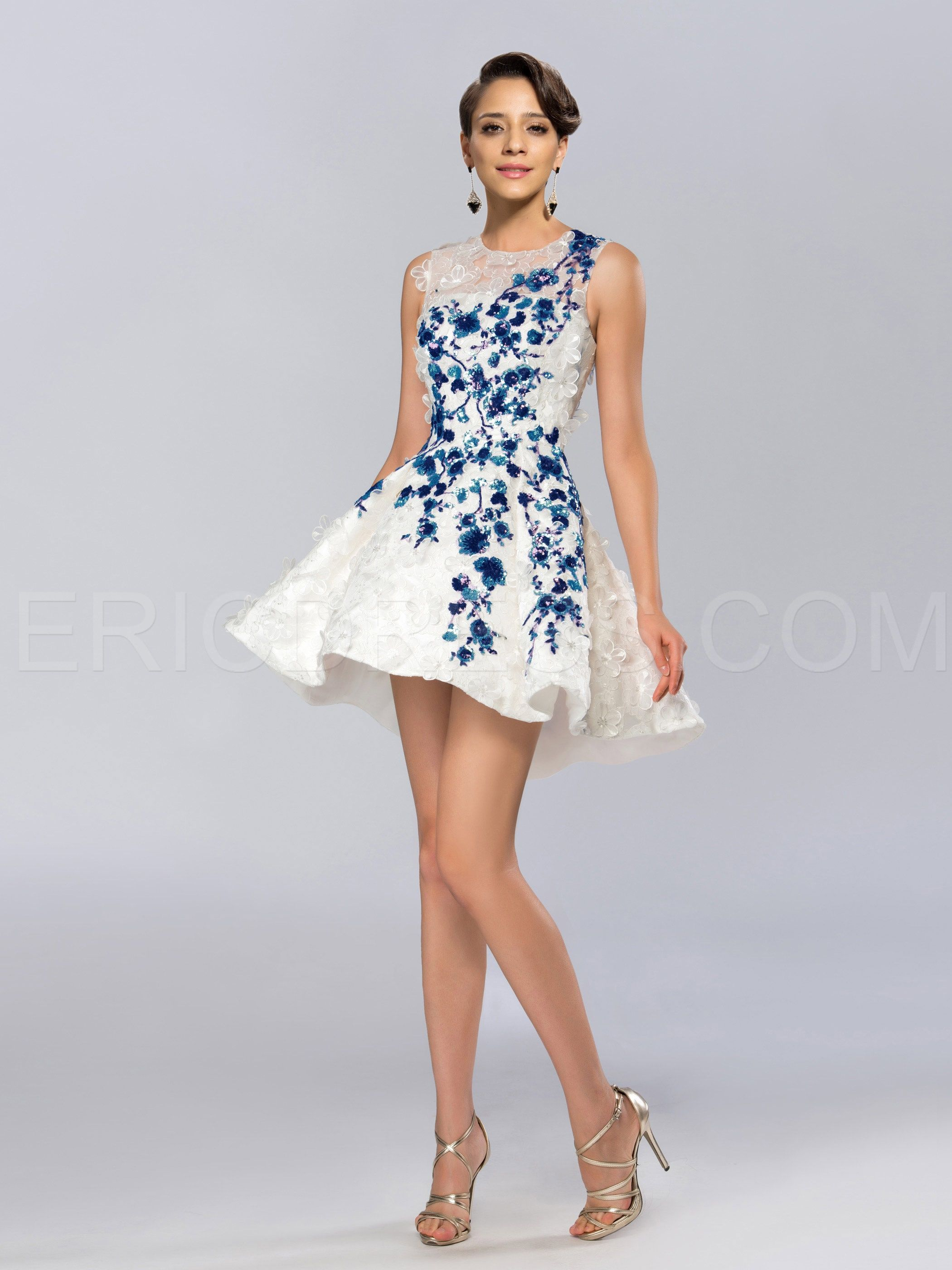 1d328a9a2d6c08 ericdress.com offers high quality Amazing Floral Sequin Appliques Jewel  Neck Short Cocktail Dress Sexy Cocktail Dresses unit price of $ 107.63.
