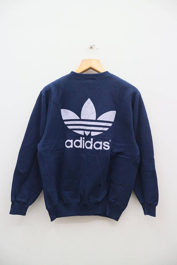 Vintage ADIDAS Trefoil Big Logo And Spell out Sweater Sportswear N0SuVi