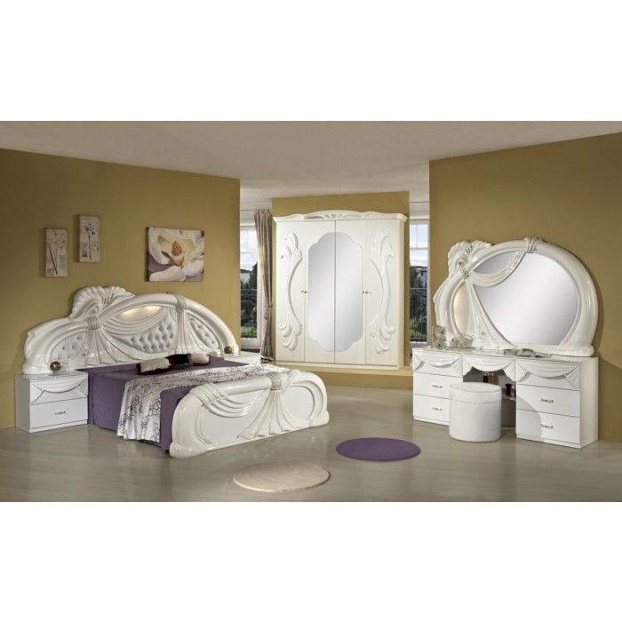 furniture made in italy. Gina White Italian Classic Bedroom Set Made In Italy Furniture E