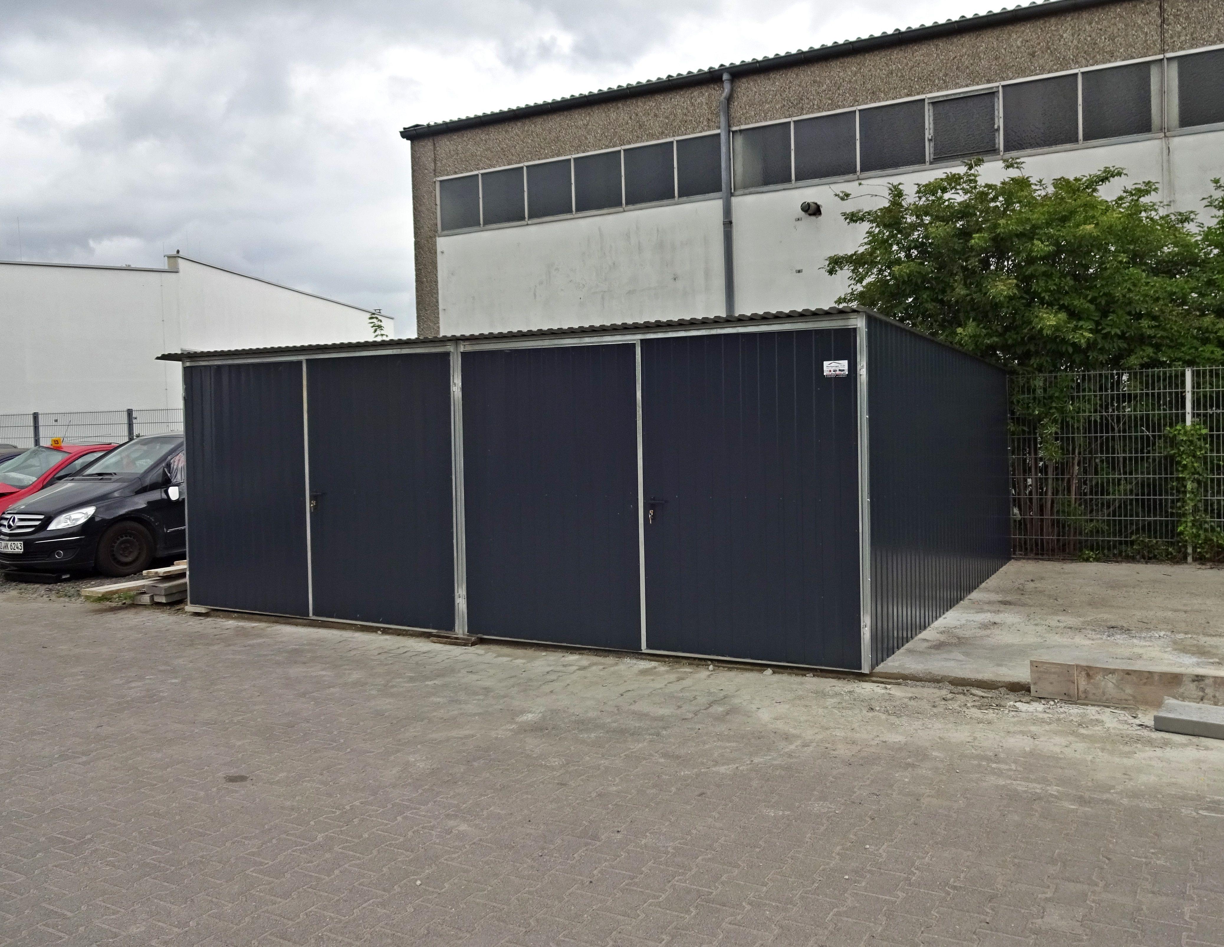 doppelgarage 3x5m in ral metallgarage blechgarage garagen pinterest garage. Black Bedroom Furniture Sets. Home Design Ideas