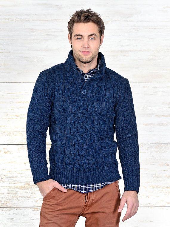 cc11e2f6a7c98 HECHOS a pedido con cuello en v suéter de cuello alto hombres ...