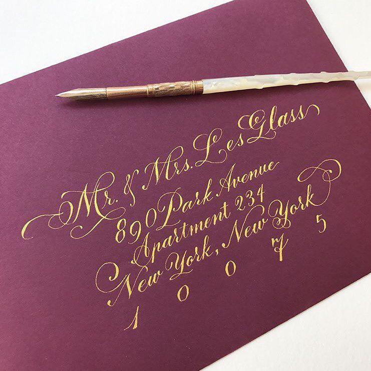 handwrite or print wedding invitation envelopes%0A       Likes     Comments   calligrabasics on Instagram   u   cHey CB u    ers     Envelope LetteringWedding