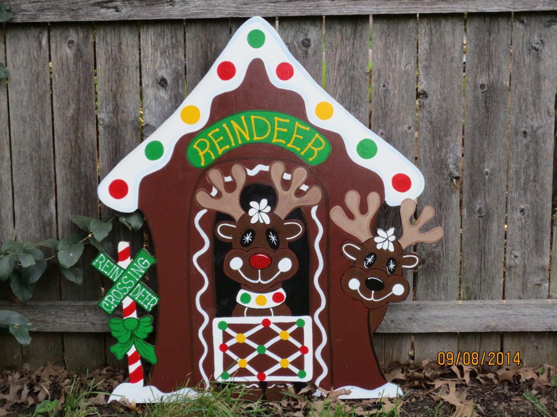 Diy christmas lawn decorations wood - Popular Items For Yard Art On Etsy Christmas Yard Decorationschristmas Wood