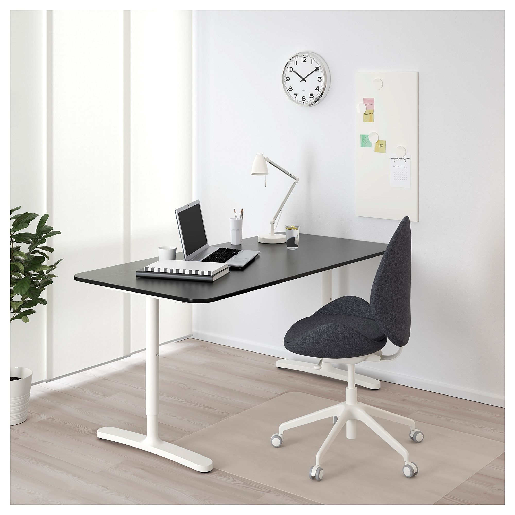 Bekant Desk Black Stained Ash Veneer White 63x31 1 2 160x80 Cm Ikea Bekant Corner Desk White Desks